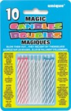Multi-Coloured Magic Re-Light Birthday Cake Candles
